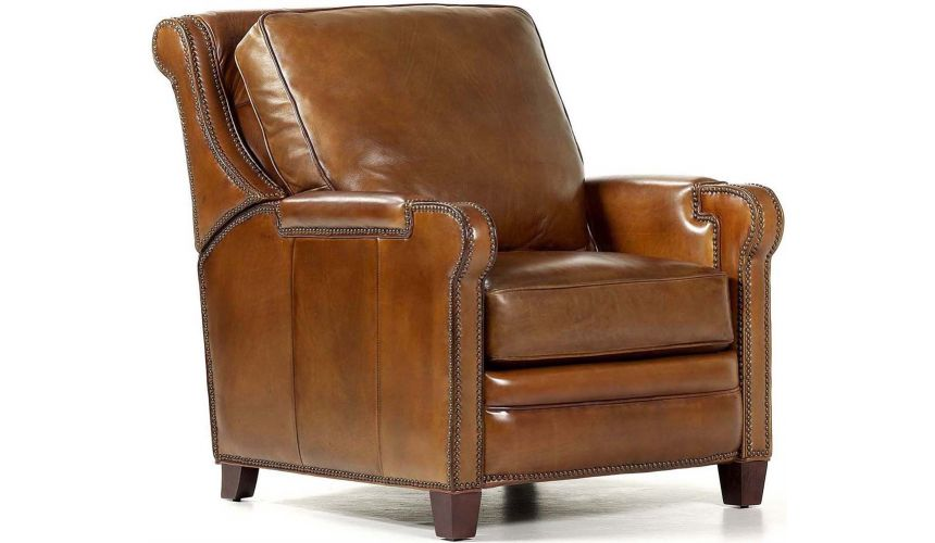 Luxury Leather & Upholstered Furniture Leather Easton Recliner