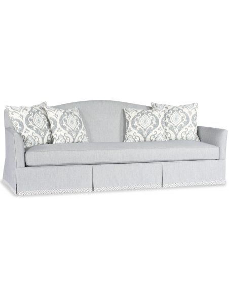 SOFA, COUCH & LOVESEAT Light Blue Round Back Sofa