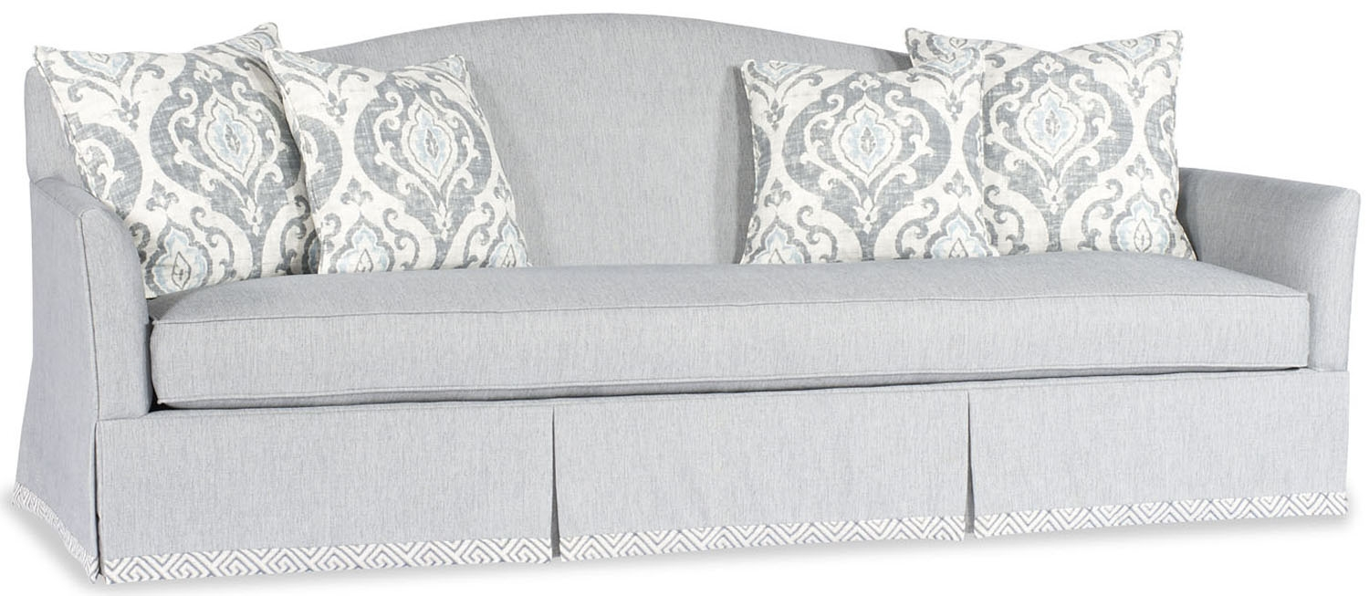 Sofa Couch Loveseat Light Blue Round Back