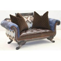 Cool western style loveseat from our bad ass gringo collection