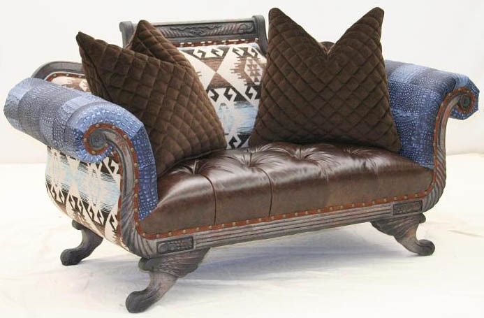 Fine Cool Western Style Loveseat From Our Bad Ass Gringo Collection Theyellowbook Wood Chair Design Ideas Theyellowbookinfo