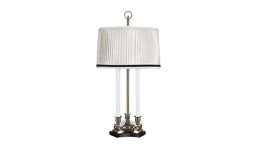 Decorative Accessories Triple Candle Brass Lamp