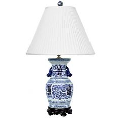 Beautifully Hand Painted Urn Lamp