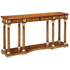 77-68 Solid walnut wood Console Table