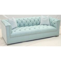 Gorgeous Fresh Mint Tufted Sofa