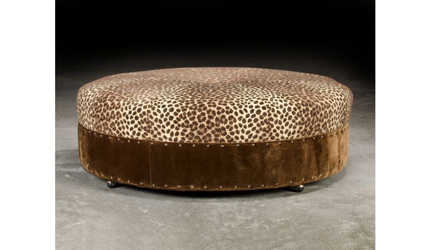 Luxury Leather & Upholstered Furniture Luxury Upholstered Furniture, Ottoman