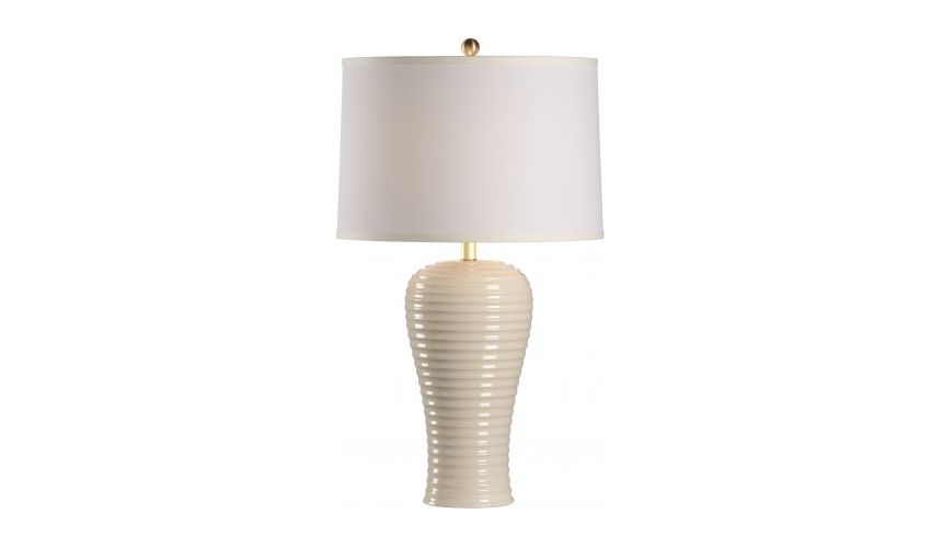Decorative Accessories Rigata Sand Colored Lamp