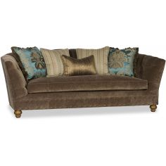 Tufted Upholstered Curved Sofa