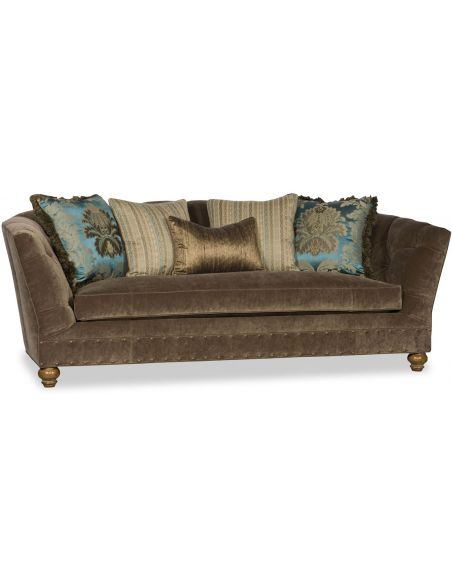 SOFA, COUCH & LOVESEAT Tufted Upholstered Curved Sofa
