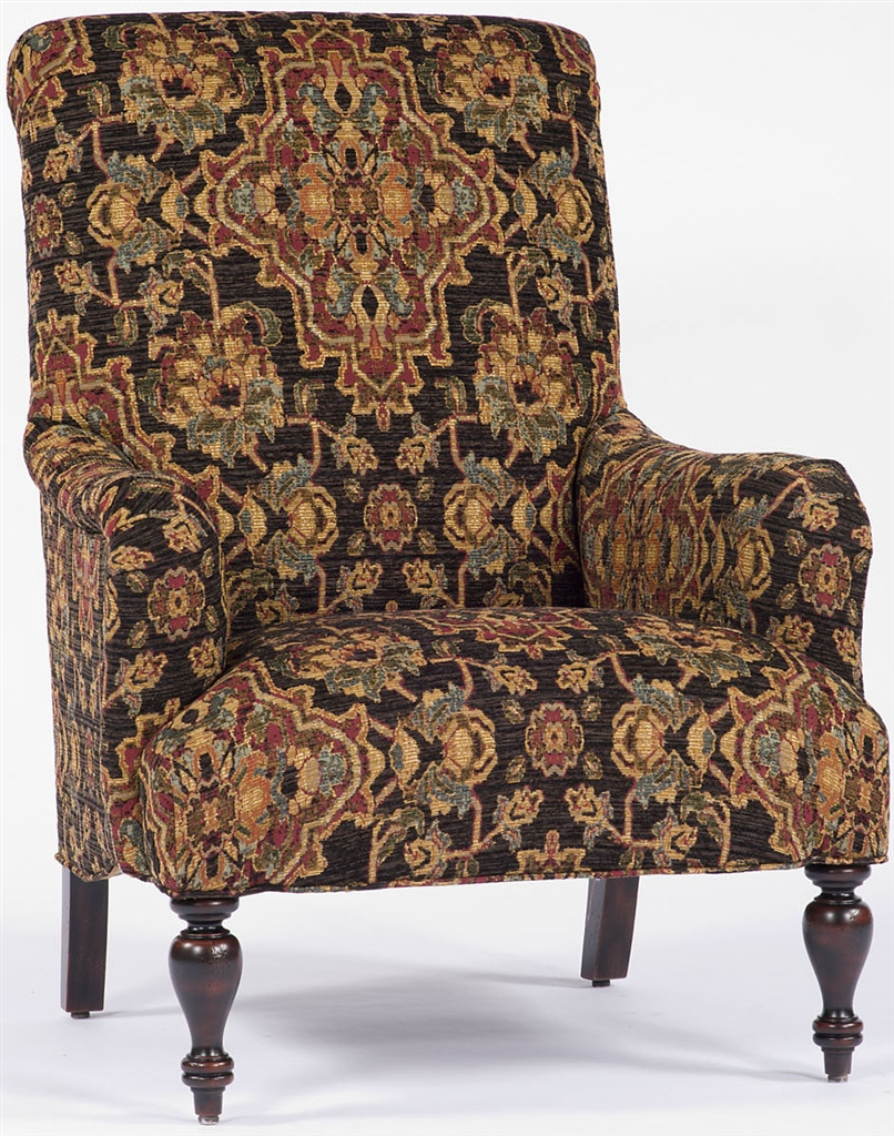 Beautiful Luxury Leather U0026 Upholstered Furniture Black Tapestry Chair,