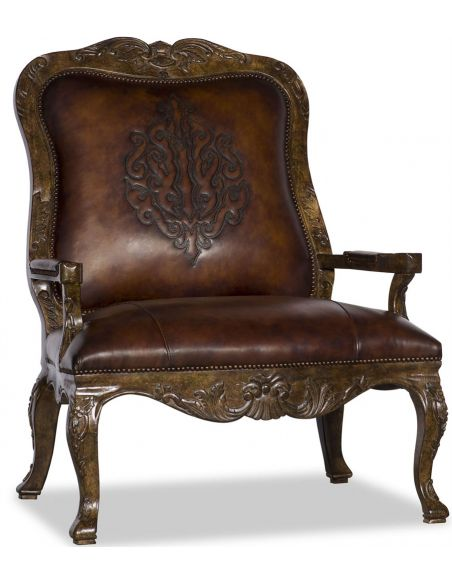 Luxury Leather & Upholstered Furniture Upholstered Carved Chair
