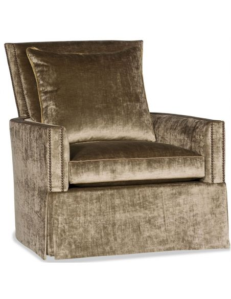 Luxury Leather & Upholstered Furniture Elegant Arm Chair