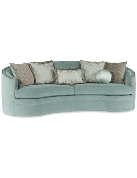 SOFA, COUCH & LOVESEAT Round Baby Blue Sofa