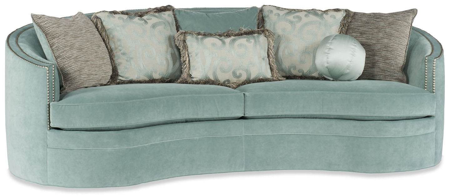 Sofa Couch Loveseat Round Baby Blue