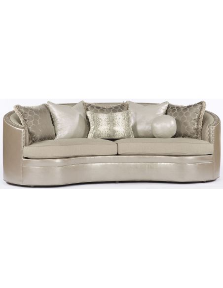 SOFA, COUCH & LOVESEAT Beige Wrap Around Sofa