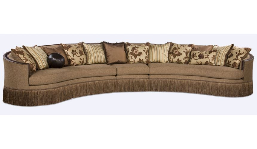 Luxury Leather & Upholstered Furniture Extra Long Sectional Sofa