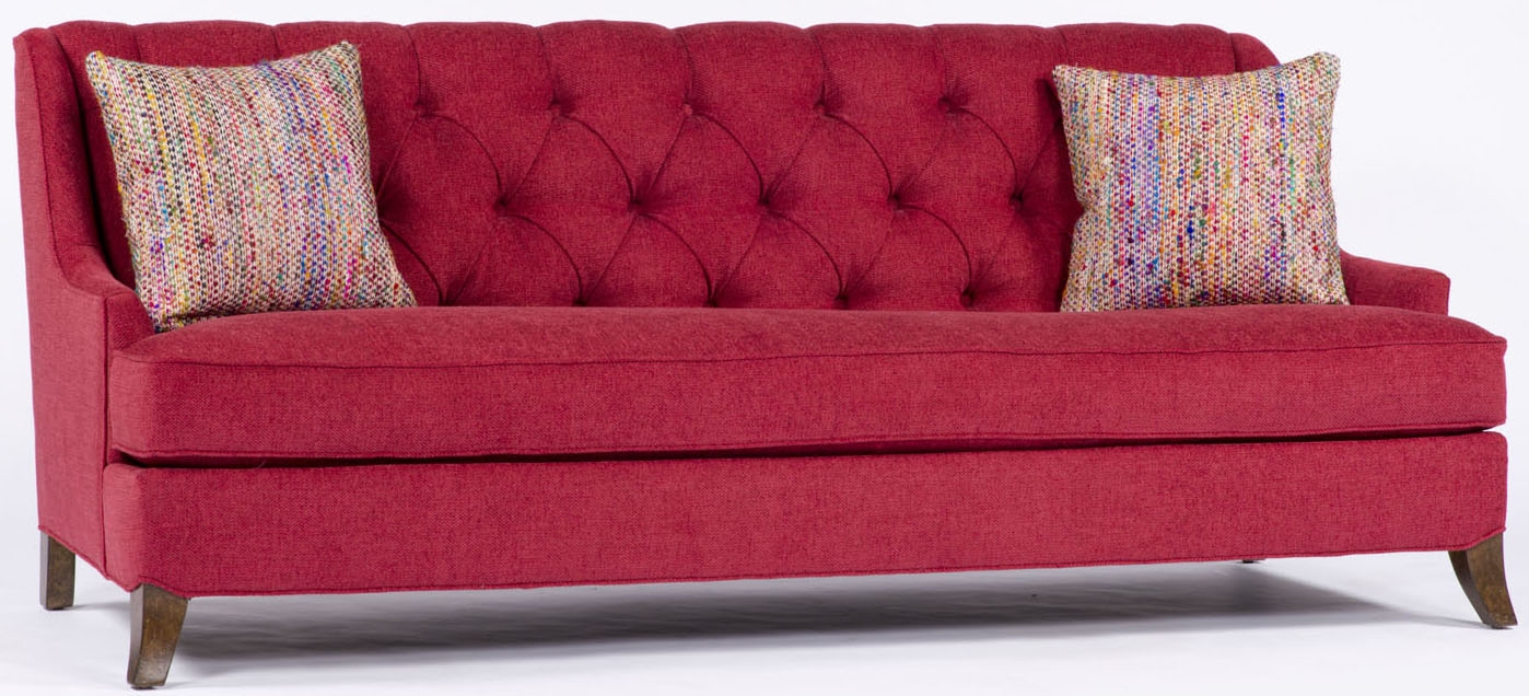 Red Tufted Sofa