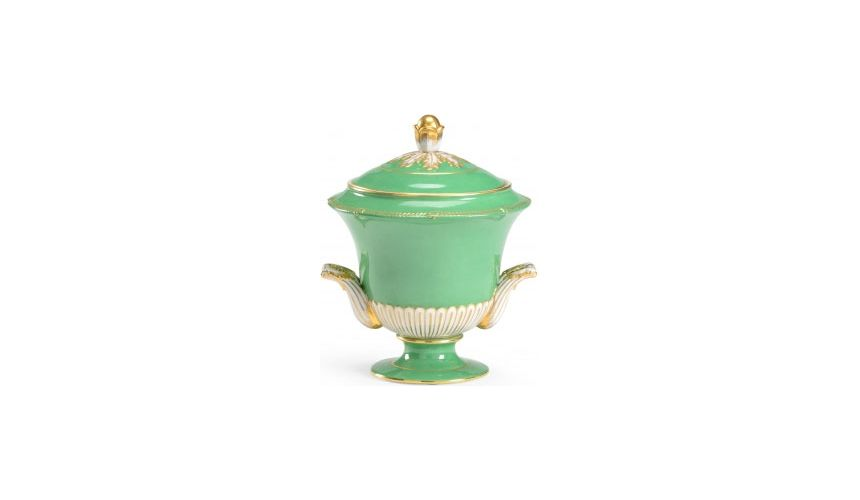 Decorative Accessories Tea Pot Style Covered Urn