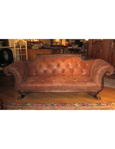 SOFA, COUCH & LOVESEAT Tufted Sofa-sofa, chair, leather, fabric