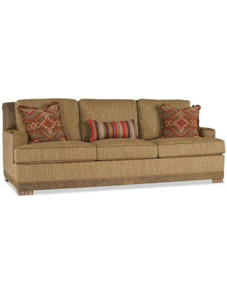 SOFA, COUCH & LOVESEAT Beige Upholstered Sofa