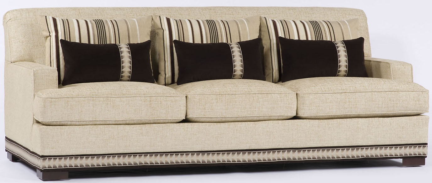 Cream Sofa With Nailhead Trim