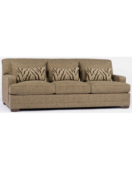 SOFA, COUCH & LOVESEAT Low Profile Tan Sofa