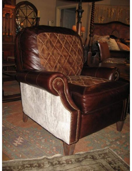 Luxury Leather & Upholstered Furniture 3 Way High Leg Recliner