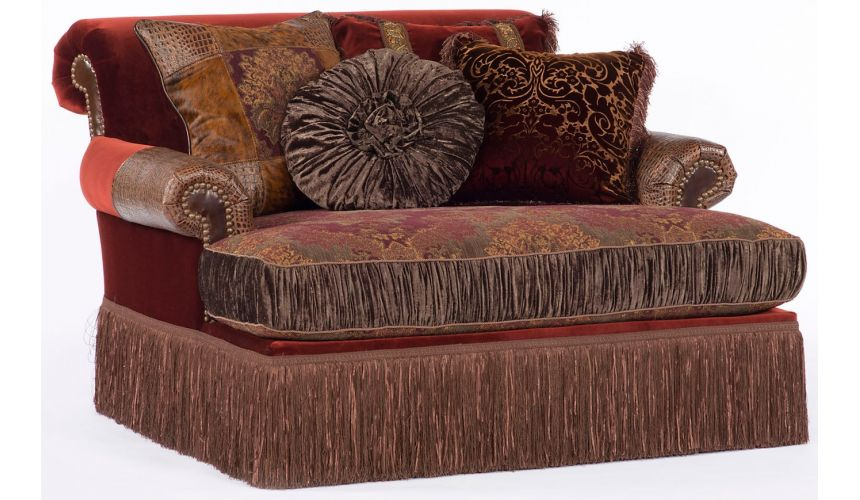 Luxury Leather & Upholstered Furniture Super Chaise