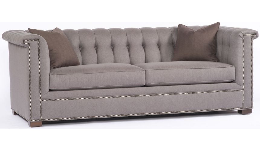 SOFA, COUCH & LOVESEAT Slate Tufted Back Sofa,