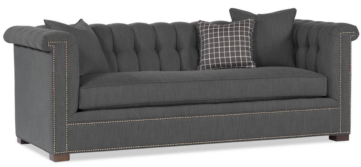 Grey Tufted Back Sofa