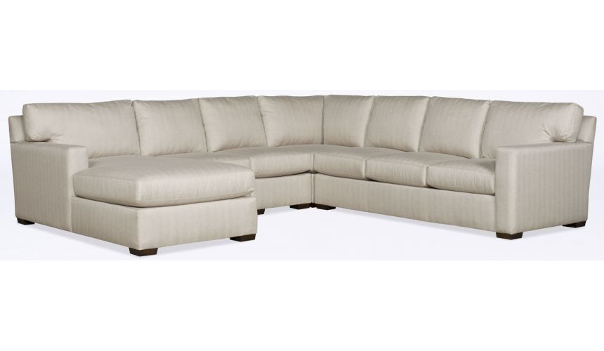 Luxury Leather & Upholstered Furniture Modern White Leather Sectional