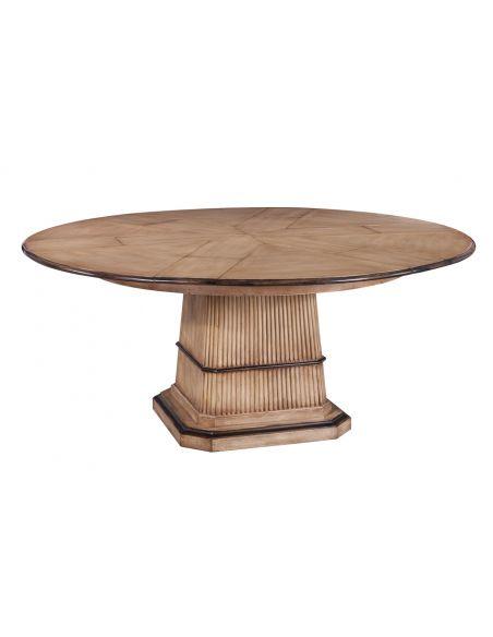 Dining Tables Jupe Table Medium, Solid Walnut Light color.