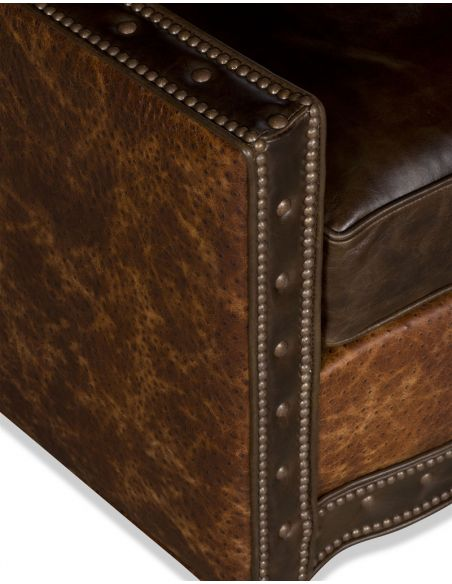Luxury Leather & Upholstered Furniture Upholstered Nail Head Club Chair