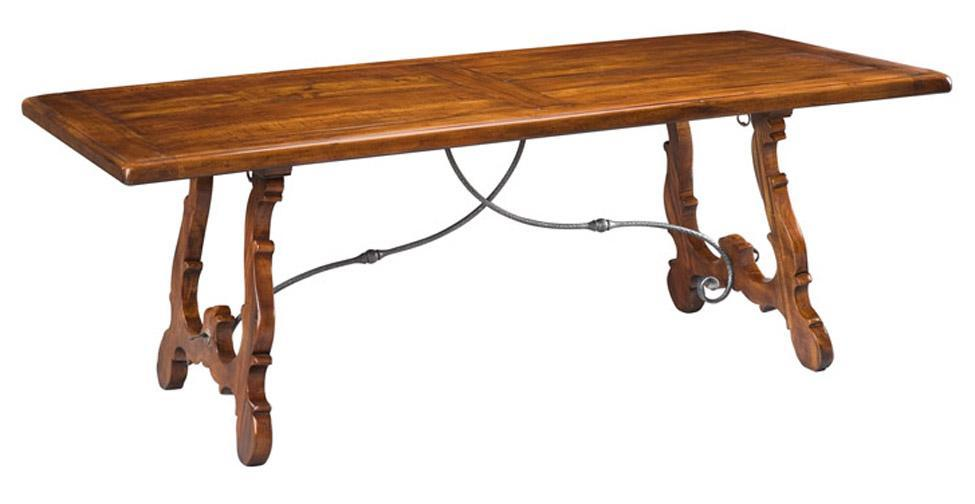 high end dinning furniture spanish dining table old world mahogany