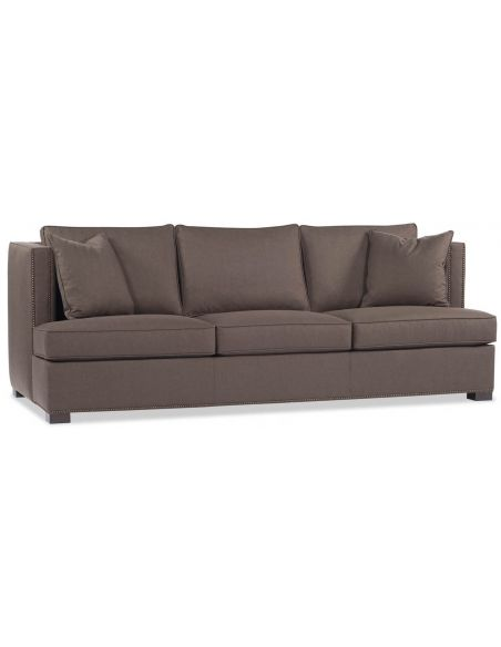 SOFA, COUCH & LOVESEAT Chocolate Brown Sofa