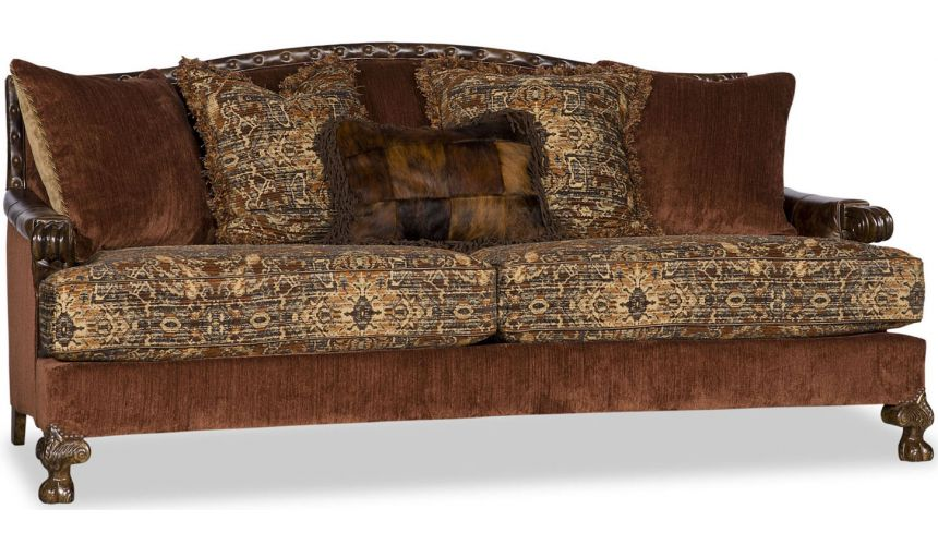 SOFA, COUCH & LOVESEAT Curved Upholstered Sofa