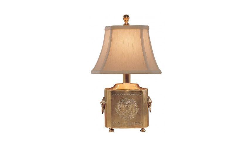 Block Box Golden Lamp