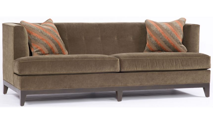 SOFA, COUCH & LOVESEAT Smooth Chocolate Sofa,