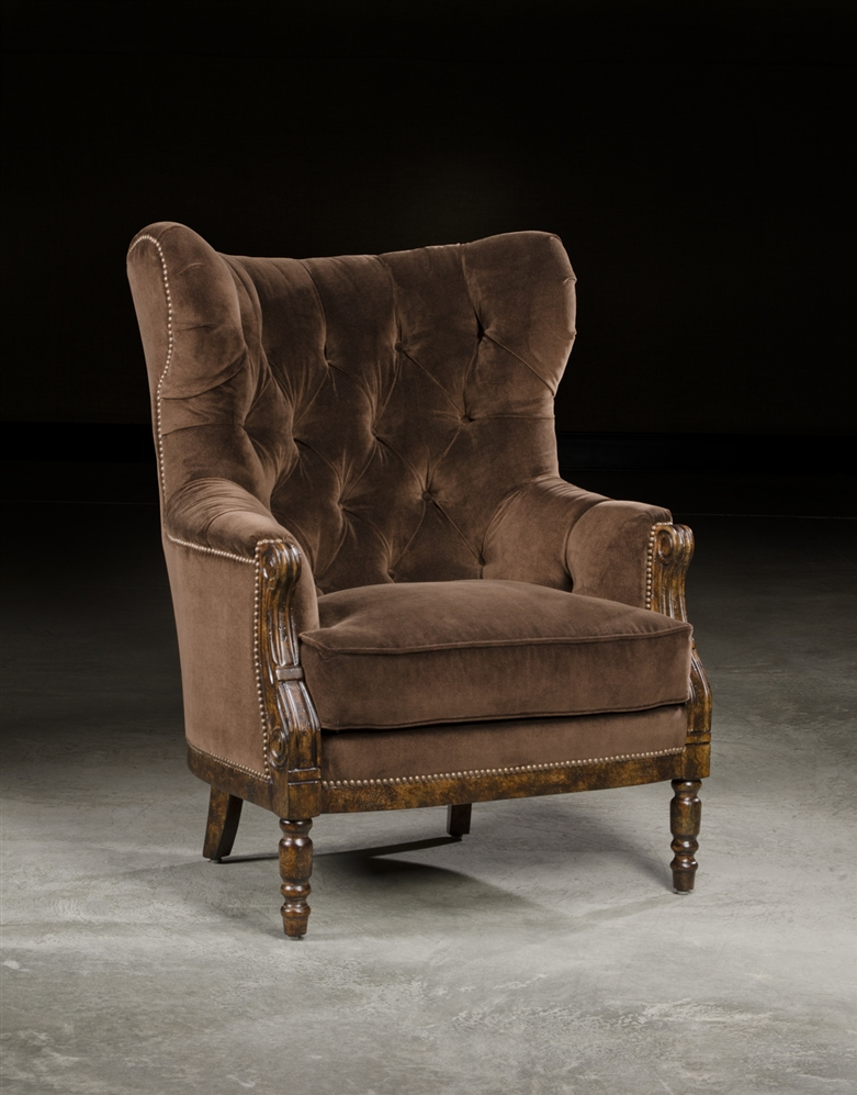 Tufted Comfortable High Back Chair