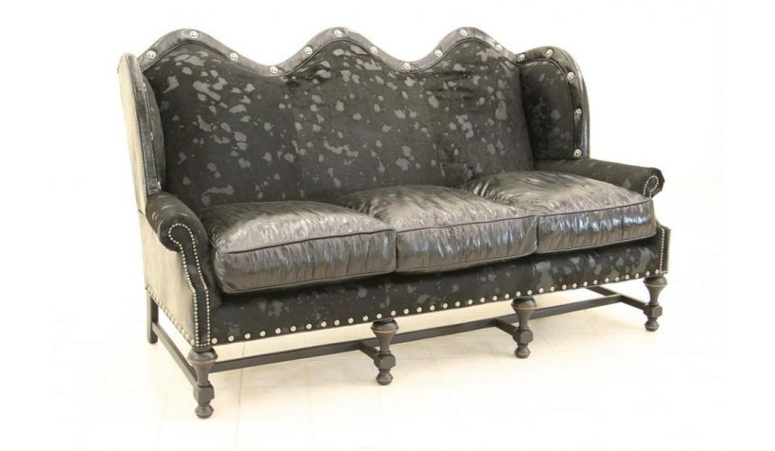 SOFA, COUCH & LOVESEAT Hair Hide Mad Cow In Black Sofa