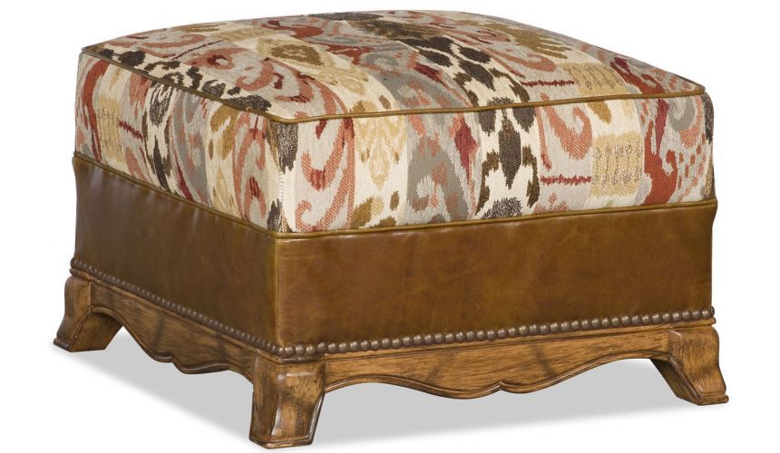 Luxury Leather & Upholstered Furniture Ottoman Box Seat