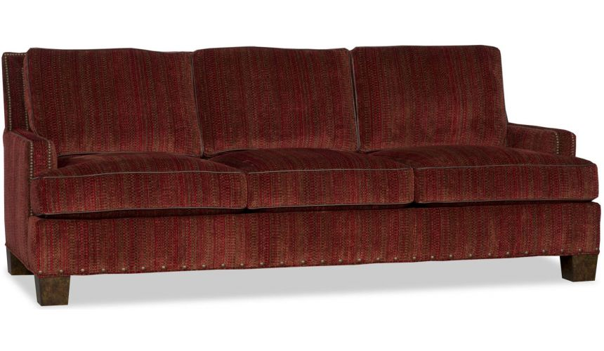 Luxury Leather & Upholstered Furniture Transitional Upholstered Sofa