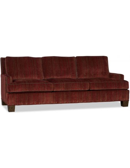 Luxury Leather & Upholstered Furniture Transitional Upholstered Sofa