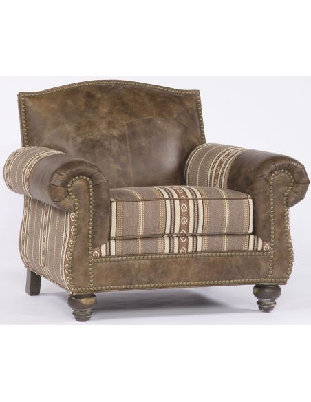 Luxury Leather & Upholstered Furniture Distressed Leather Chair