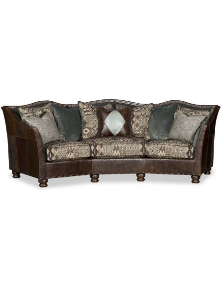 SOFA, COUCH & LOVESEAT Curved Nail Head Sofa