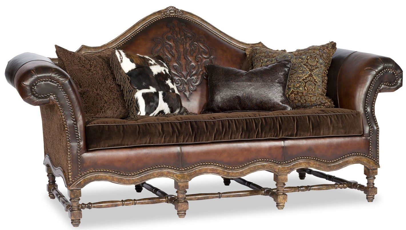 Western Embossed Leather Sofa P Jpg