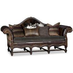 Wooden Camelback Sofa
