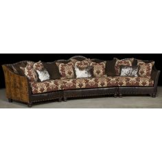 Two tone Brown leather sectional