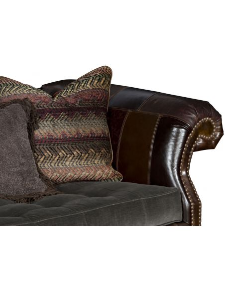 SOFA, COUCH & LOVESEAT Wooden Camelback Sofa
