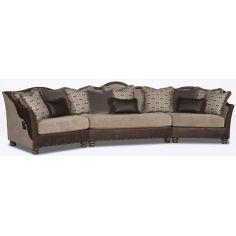 Dark and Light Wedge Sofa